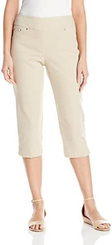 Ruby Rd. Women's Petite Size Pull-on Extra Stretch Denim Cropped Capri
