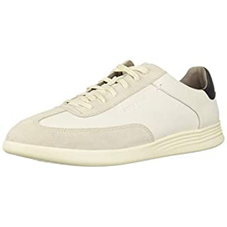 Cole Haan Men's Grand Crosscourt Turf Sneaker, Ivory/Pumice Stone Leather/Suede, 12 M US