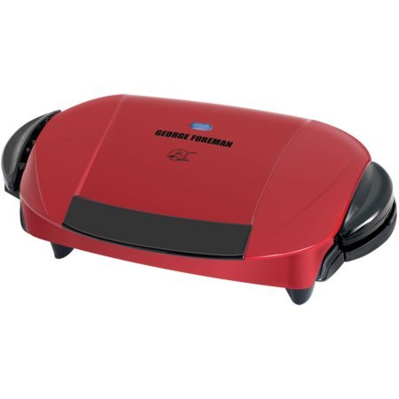 George Foreman 5-Serving Grill with Removable Plates, Red, GRP0004R by George Foreman Grillls (Image #1)
