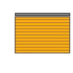 "4mm, Naranja Coroplast en blanco señales, 18""L x 24"" W, 5unidades)"