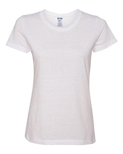 Jerzees Womens 5.6 oz 50/50 Heavyweight Blend T-Shirt (29WR) -WHITE -2XL