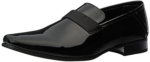 Calvin Klein Men's Bernard Loafer Tuxedo, Black Patent, 14 W - Tall Tuxedos Big