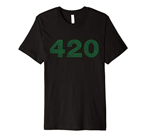 420 Written with Pot Leaves Top for Mary Jane Lovers Premium T-Shirt - Leaf Jane Pot Mary