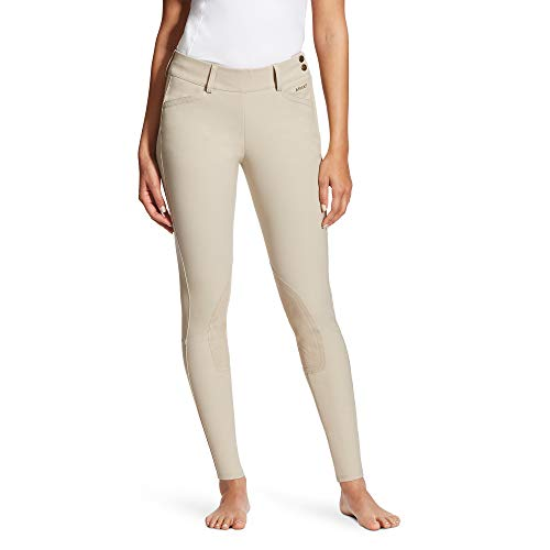 (Ariat Women's Olympia Low Rise Knee Patch Side Zip Pant, Tan, 32)