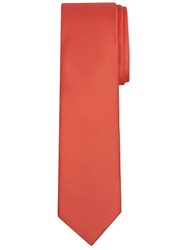Jacob Alexander Solid Color Men's Regular Tie - Coral ()