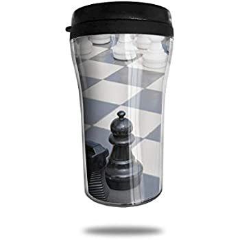 88f7d44562a FTRGRAFE International Chess Travel Coffee Mug 3D Printed Portable Vacuum  Cup,Insulated Tea Cup Water