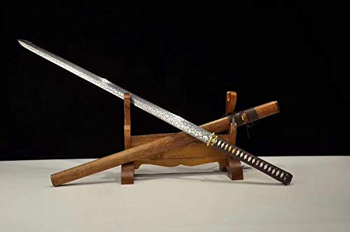 (Chinese Sword,Nija Sword,Hand Forged(High Carbon Steel Blade,Alloy,Rosewood) Full)