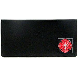 U.S. Fire Fighter Executive Leather Checkbook Cover - Executive Checkbook Cover