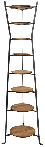 64 Inch Glass Tower Display - Enclume CWS8H HS WBRDS 8-Tier Gourmet Hourglass Cookware Stand, Hammered Steel