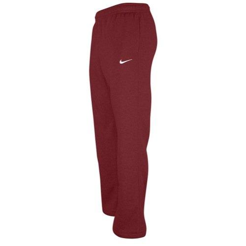 Nike Club Swoosh Men's Fleece Sweatpants Pants Classic Fit, Medium - cardinal/white