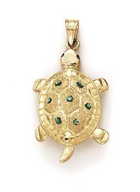 Amazon 14k yellow gold large turtle pendant jewelry 14k yellow gold large turtle pendant mozeypictures Images