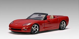 (2005 Chevy Chevrolet Corvette C6 Convertible Autoart Performance 1:18 71221 Red)