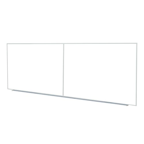 Ghent M24124 Non-Magnetic Whiteboard with Aluminum Frame 4-Ft H x 12-Ft W