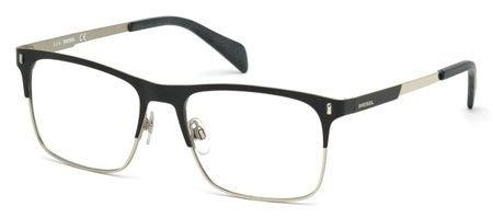 DIESEL Eyeglasses DL5151 002 Matte Black 54MM