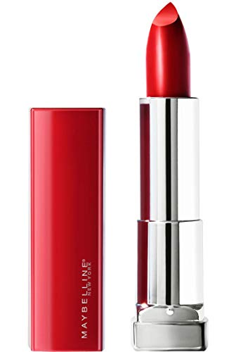 Maybelline New York Color Sensational Made for All Lipstick, Ruby For Me, Satin Red Lipstick, 0.15 Ounce