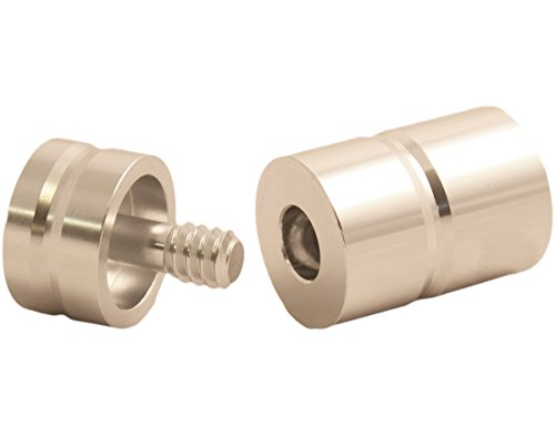 (Pro Series JPA-14 Threaded Aluminum Joint Protectors, Psycho Silver, 5/16 x 14)