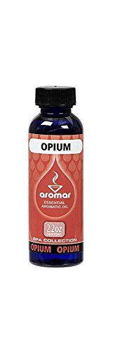 Aromar Aromatherapy Essential Aromatic Fragrance Oil Opium Scent 2.2oz Made in - Oil Opium Scented