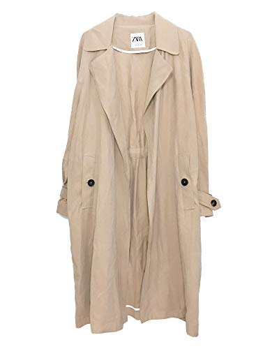 Zara Women Flowing Trench Coat with Pockets 0518/055 for sale  Delivered anywhere in USA