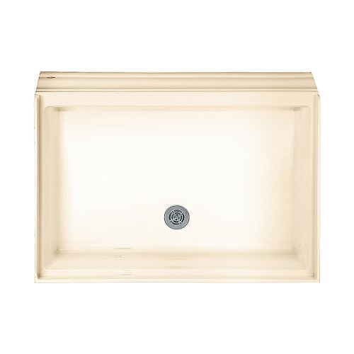 American Standard 4834.STTS.021 Town Square 48-by-34-Inch Single-Threshold Shower Base with Integral Water Retention, Bone ()