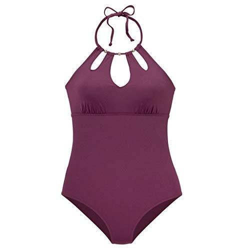 Women's High Cut One Piece Backless Thong Brazilian Bikini Swimsuits ()