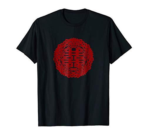 (Double Happiness Shirt Tshirt Chinese Symbol Gift Tee )