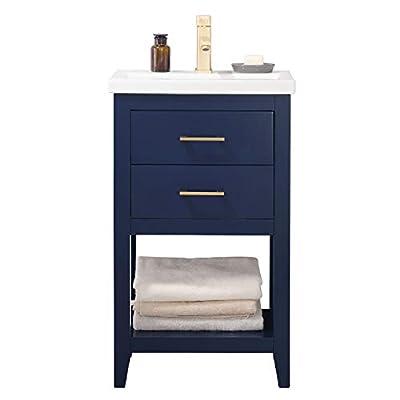 "Luca Kitchen & Bath LC20FBP Dublin 20"" Bathroom Vanity Set in Midnight Blue Made with Hardwood"