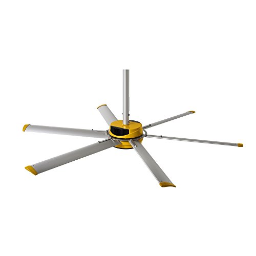 Giant Ceiling Fan Price Philippines: Big Ass Fans 2025 Silver/Yellow Shop Ceiling Fan