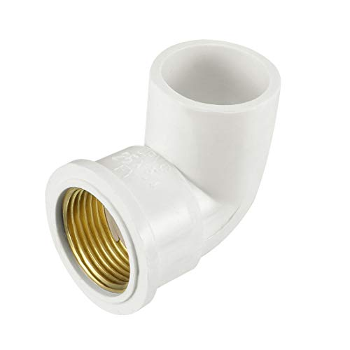 uxcell 25mm Slip x 3/4PT Female Thread 90 Degree PVC Pipe Fitting Elbow