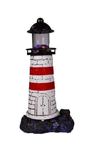 Penn-Plax Deco-Replicas Aerating Lighthouse Ornament - for Freshwater and Saltwater Aquariums