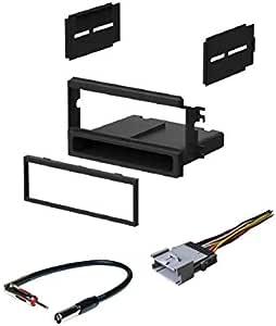 ASC - Kit de instalación de Radio estéreo para Coche, arnés de Cable y Adaptador de Antena para Instalar una Radio DIN única para vehículos Kia ...