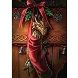 Magical arrivée-Anne Stokes Dragon'Yule/Carte de vœux