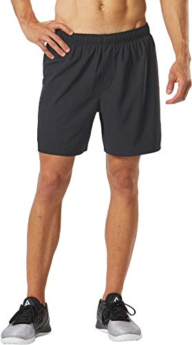 1 Shorts Gear - Men's R-Gear MVP 2-in-1 Shorts, 6-inch Length with Inner Compression Shorts and Pockets, Black, M