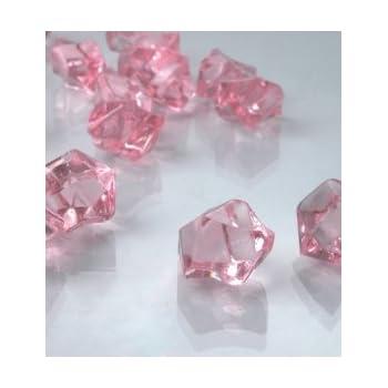 Amazon Dashington 2 Pounds Of Pink Acrylic Ice Rock Vase Gems