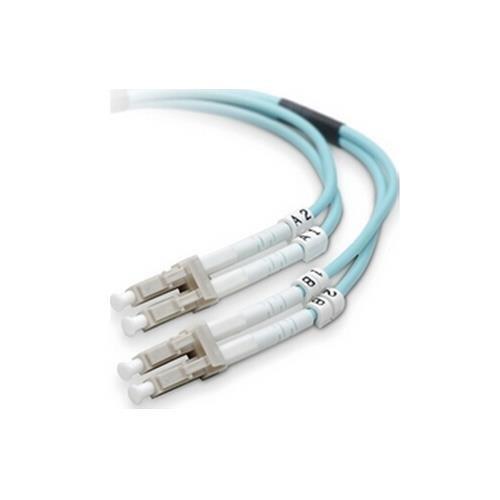 Belkin F2F402LL-02M-G Fiber Optic Duplex Patch Cable, 6.56ft, Aqua