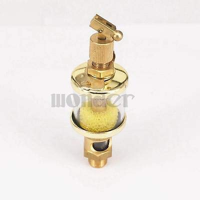 "1//4/"" PT Thread Needle Valve Oil Cup Sight Gravity Drip Feed Oilers 400ml  O"