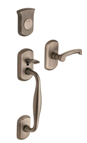 Baldwin 85325.452.RFD Tahoe Sectional Trim Right Hand Dummy Handleset with Tahoe Lever, Distressed Antique -
