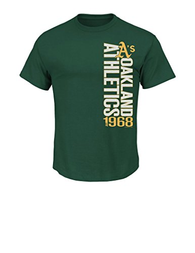 MLB Oakland Athletics Men's Our Game Tee, Small, - Oakland Green Athletics