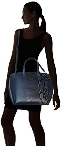 Chicca Borse 8866 - Bolso de hombro Mujer Azul (Blue Blue)