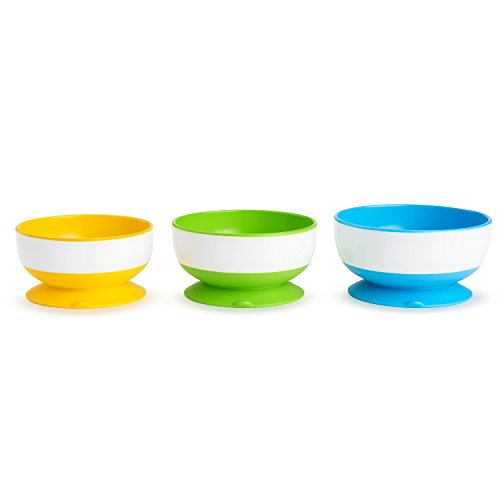 Munchkin Stay Put Suction Bowl, 3 Count Toddler Dish