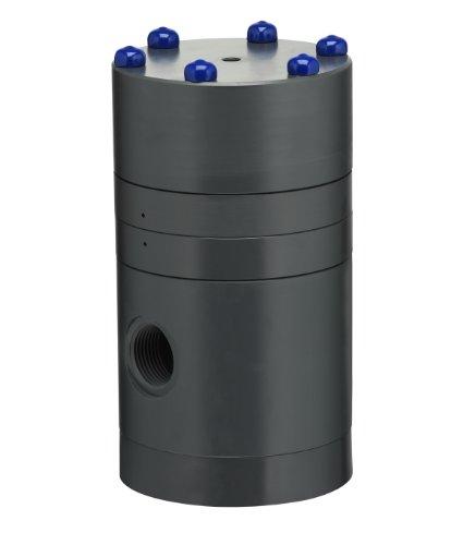 (Plast-O-Matic PRA Series PVC Pressure Regulator, For Corrosive and Ultra-Pure Liquids, 5 - 125 psi Regulating range, 1/4