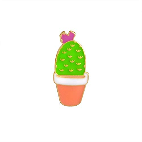 AMBER DAVIDSON Succulent Plants Cactus Aloe Vera Cute Plant in Pot Pins Brooch Badge Plant Lover Gift Fashion Accessory,A1 ()