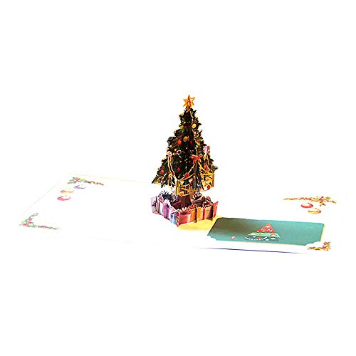 3D Pop Up Card ChristmasTrees Holiday Merry Christmas Greeting Cards Wedding Party Home Garden Bedroom Outdoor Indoor Decorations from Berryhot