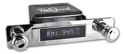 - Apache Radio with Installation Bezel, Chrome Knob Kit and Vintage Dial Screen Compatible with 1954 Chevrolet Truck