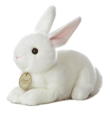 """Aurora World Miyoni Bunny 8"""" Plush, White"""