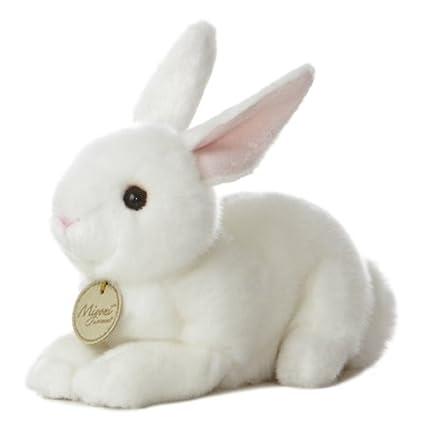Amazon Com Aurora World Miyoni Bunny 8 Plush White Toys Games