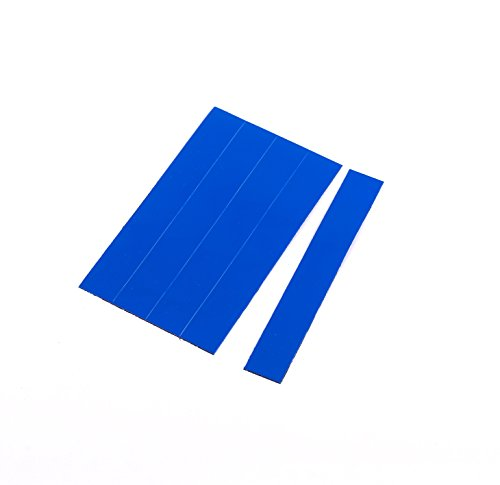 (MasterVision Magnetic Dry Erase Tape Strips, 7/8 x 6 Inches, Blue, 25)