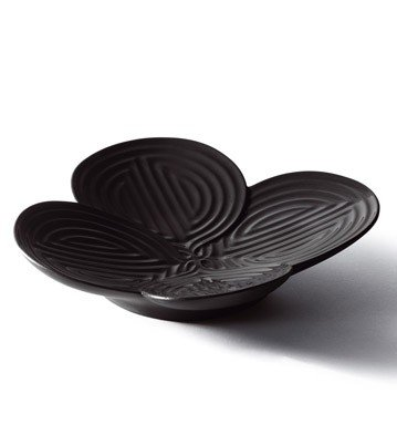 Lladro Black Appetizer Plate by Lladro Porcelain