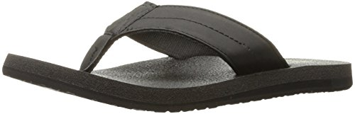 Sanuk Men's Beer Cozy Ultra Flip Flop, Black, 12 M US