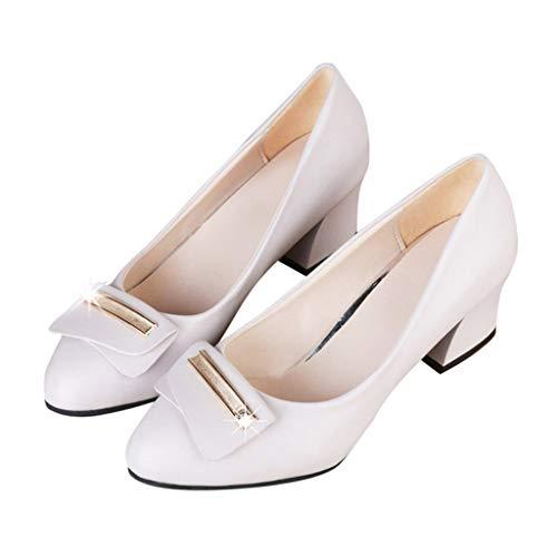 Primavera Mujer Uso Diario Zapatos Oficina Mocasines Loafer Beige Para Plataforma Medio Verano Tacon Y Cw7RSq05