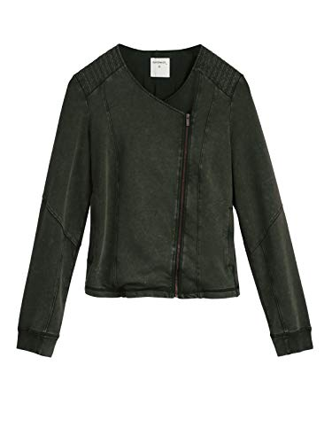Style Jersey Biker Dark Jacket Sandwich Clothing Olive Soft TExAq